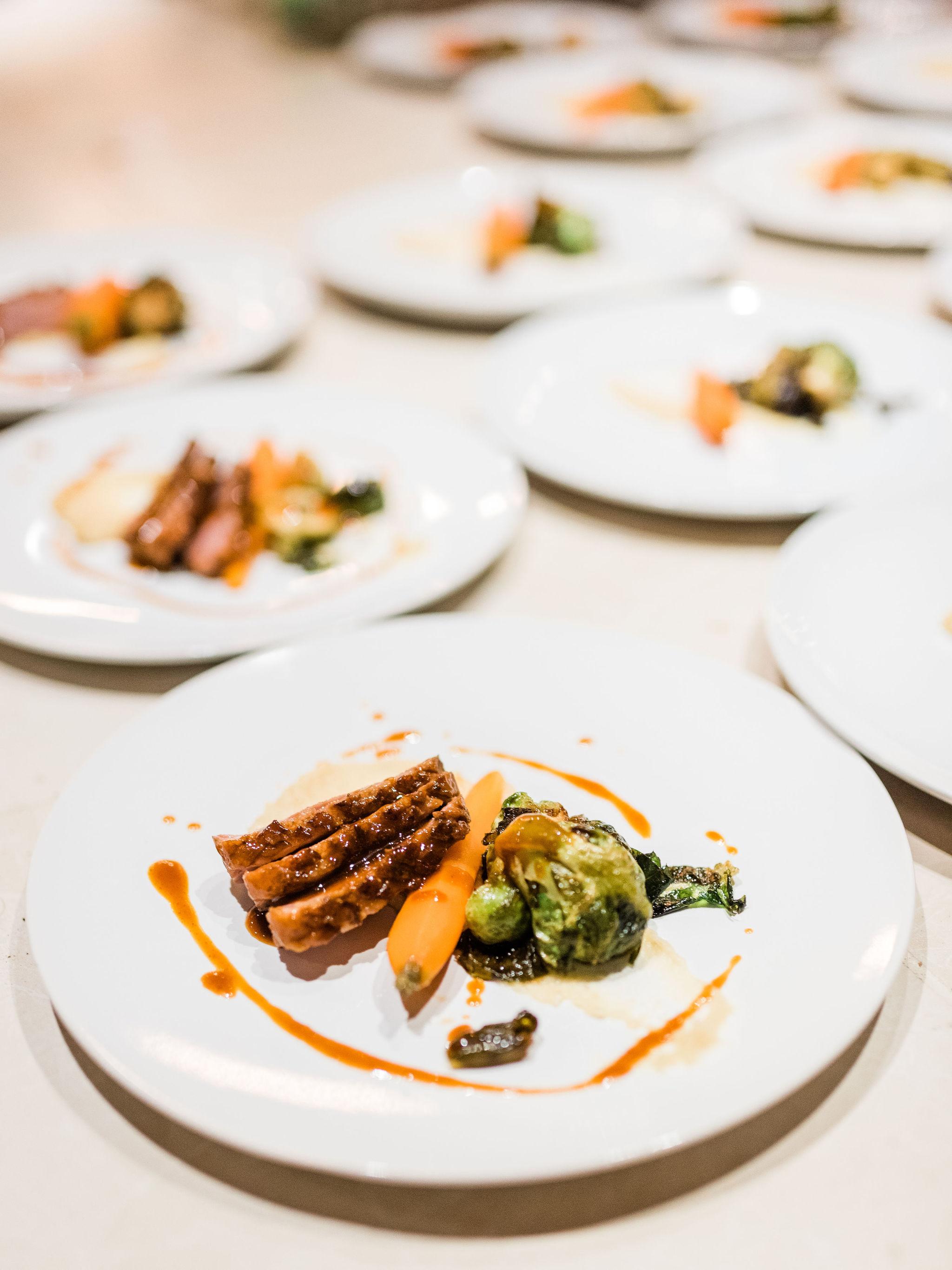 Repas table d'hôte gastronomique
