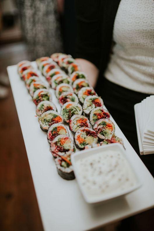 Sushis végé à servir pour votre cocktail dînatoire