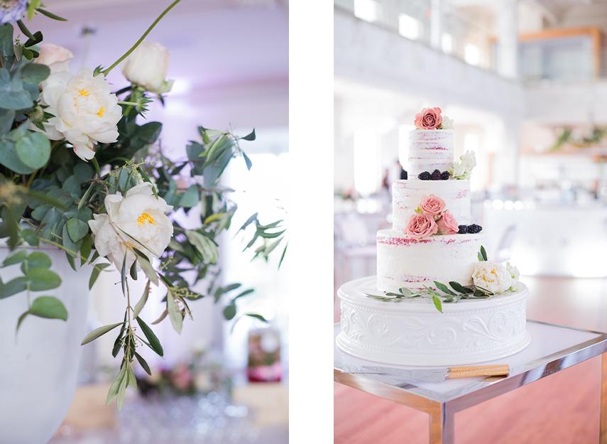 Gâteau de mariage et fleurs signés Deux Gourmandes